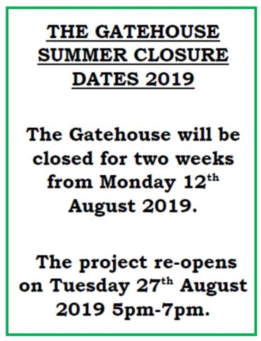 Gatehouse summer closure dates